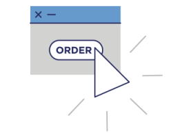 order button being clicked